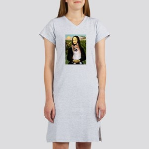 Mona Lisa / Welsh Corgi(p) Women's Nightshirt