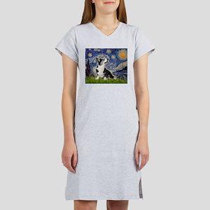 Starry Night / Welsh Corgi Women's Nightshirt