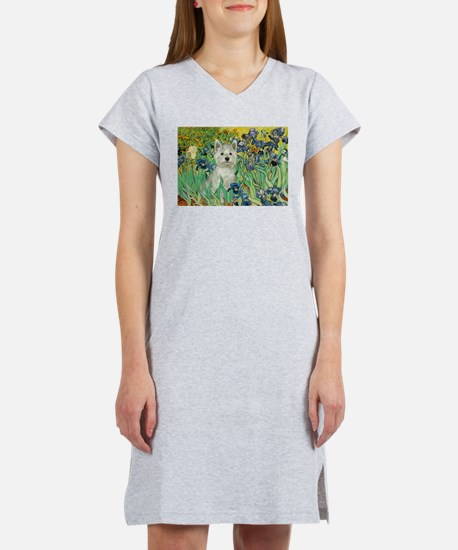 Irises / Westie Women's Nightshirt