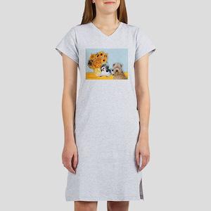 Sunflowers/PBGV + Wheaten T Women's Nightshirt