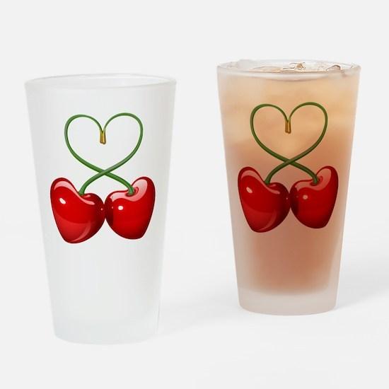 Cherry Love Drinking Glass