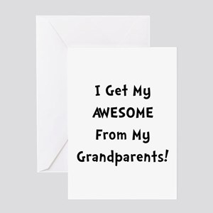 Awesome From Grandparents Greeting Card