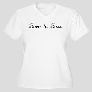 Born to Boss! Women's Plus Size V-Neck T-Shirt