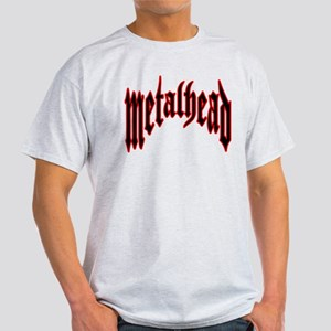 MetalHead Black and Red Logo Light T-Shirt