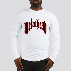 MetalHead Black and Red Logo Long Sleeve T-Shirt