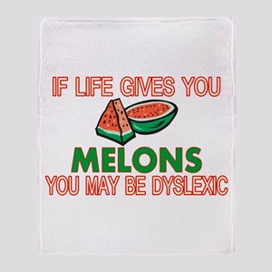 Dyslexic Melons Throw Blanket