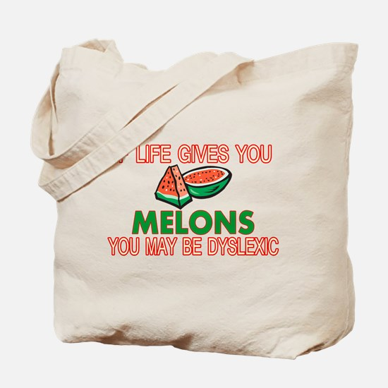 Dyslexic Melons Tote Bag