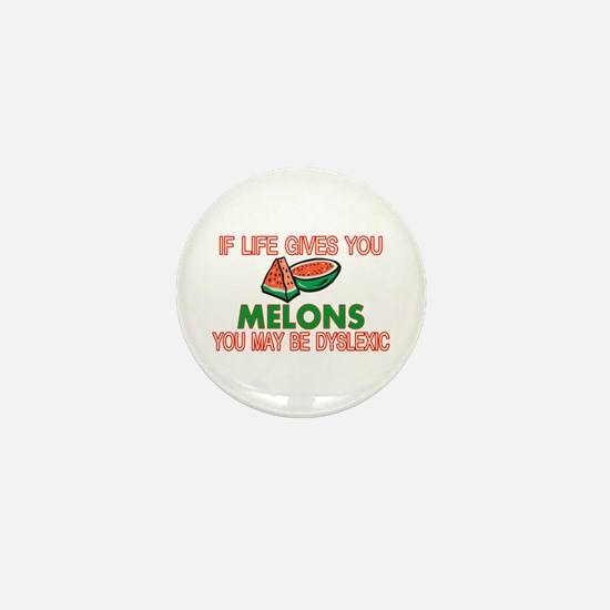 Dyslexic Melons Mini Button