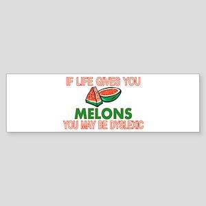 Dyslexic Melons Sticker (Bumper)