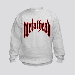 MetalHead Black and Red Logo Kids Sweatshirt