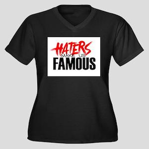 Haters make me Famous Women's Plus Size V-Neck Dar