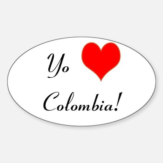 Yo Amo Colombia! Sticker (Oval)