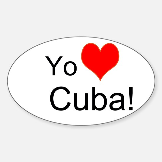 Yo Amo A Cuba! Sticker (Oval)