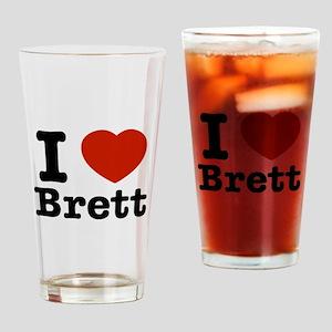 I love Brett Drinking Glass