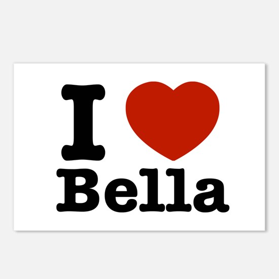 I love Bella Postcards (Package of 8)