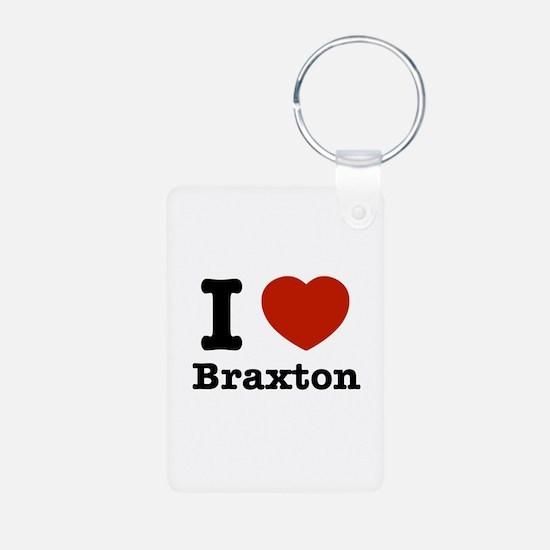 I love Braxton Aluminum Photo Keychain