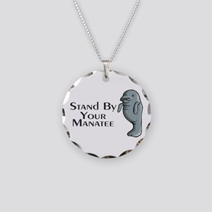 Stand By Your Manatee Necklace Circle Charm