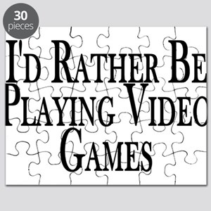 Rather Play Video Games Puzzle