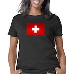 swiss1_blk Women's Classic T-Shirt