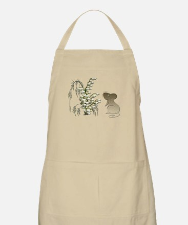 Cute Mouse and lily of the va Apron