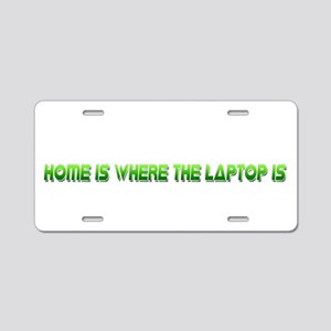 Home Is Green Aluminum License Plate