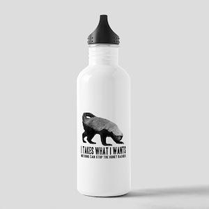 Honey Badger Speaks Stainless Water Bottle 1.0L