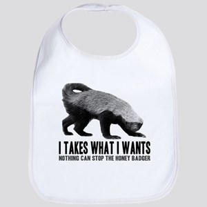 Honey Badger Speaks Bib