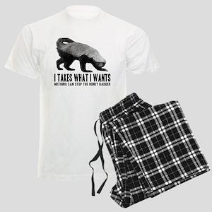 Honey Badger Speaks Men's Light Pajamas
