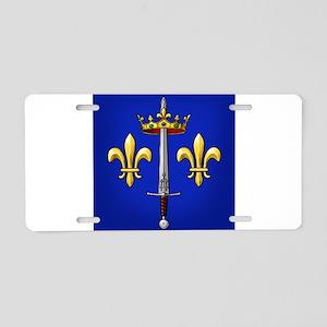 Joan of Arc heraldry Aluminum License Plate