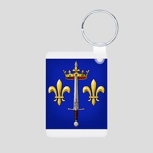 Joan of Arc heraldry Aluminum Photo Keychain