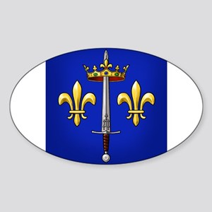 Joan of Arc heraldry Sticker (Oval)