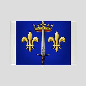 Joan of Arc heraldry Rectangle Magnet
