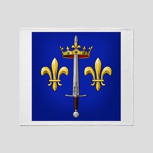Joan of Arc heraldry Throw Blanket