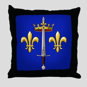 Joan of Arc heraldry Throw Pillow