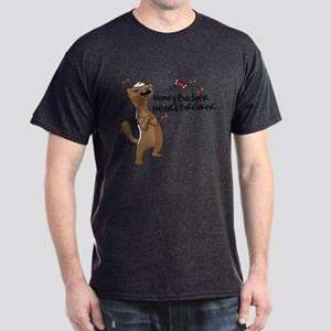 Honey Badger Valentine's Day Heart Breaker Dark T-