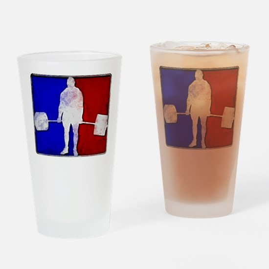 Major League Deadlifting Drinking Glass