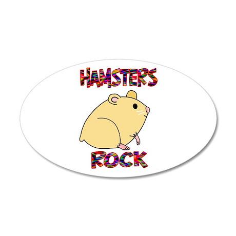 Hamsters Rock 22x14 Oval Wall Peel