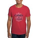 Catholic I Vote Dark T-Shirt