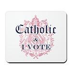 Catholic I Vote Mousepad
