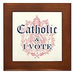 Catholic I Vote Framed Tile