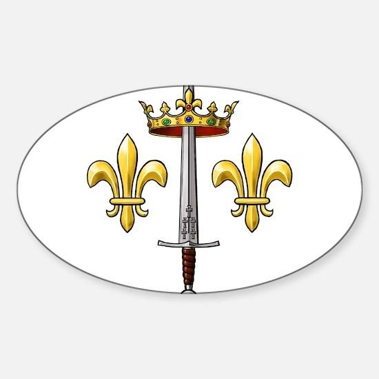 Joan of Arc heraldry 2 Sticker (Oval)