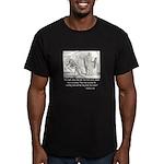 Jesus Temptation Satan Men's Fitted T-Shirt (dark)