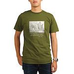 Jesus Temptation Satan Organic Men's T-Shirt (dark