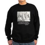 Jesus Temptation Satan Sweatshirt (dark)