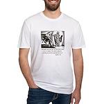 Jesus Temptation Satan Fitted T-Shirt