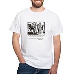 Jesus Temptation Satan White T-Shirt