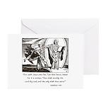 Jesus Temptation Satan Greeting Cards (Pk of 10)