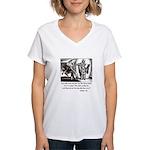 Jesus Temptation Satan Women's V-Neck T-Shirt