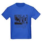 Jesus Temptation Satan Kids Dark T-Shirt