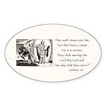 Jesus Temptation Satan Sticker (Oval 10 pk)